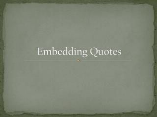 Embedding Quotes