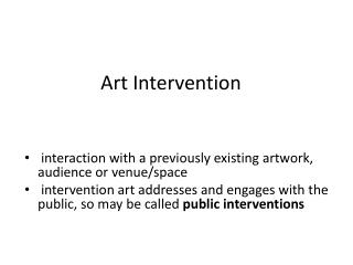 Art Intervention
