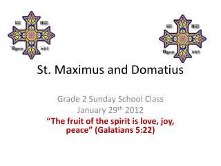 St.  Maximus  and  Domatius