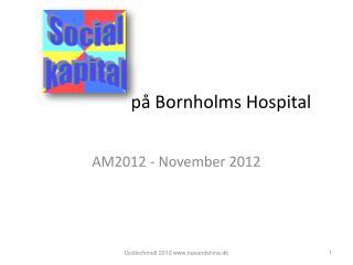 på Bornholms Hospital