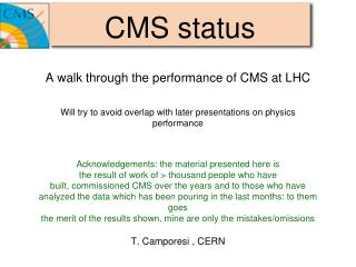 CMS status