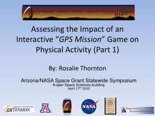 """Assessing the Impact of an Interactive """" GPS Mission """" Game on Physical Activity (Part 1)"""
