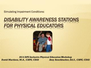 Disability Awareness Stations For Physical Educators