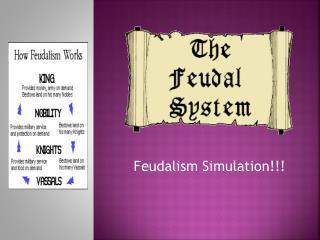 Feudalism Simulation!!!