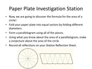 Paper Plate Investigation Station