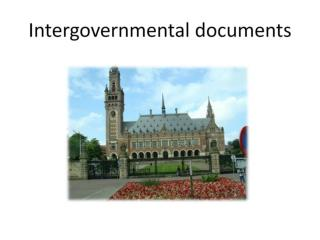 Intergovernmental documents