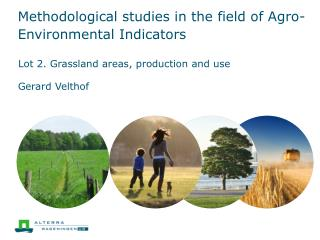 Methodological studies in the field of Agro-Environmental Indicators