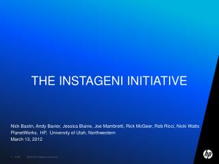 The  Instageni  Initiative