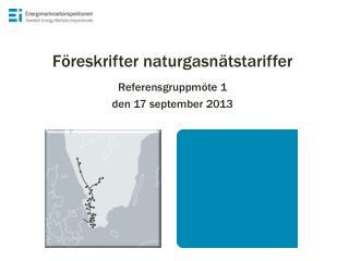 Föreskrifter naturgasnätstariffer