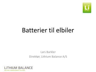 Batterier til elbiler