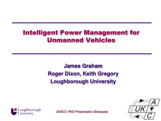 Intelligent Power Management fo r Unmanned Vehicles