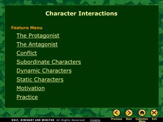 Character Interactions