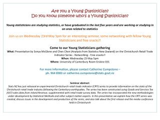 Are  you a Young Statistician?  Do  you know someone who's a Young Statistician?