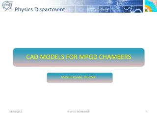 CAD MODELS FOR MPGD CHAMBERS
