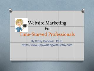 Website Marketing  For  Time-Starved Professionals
