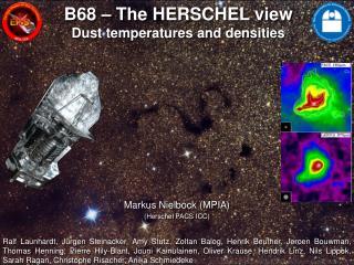 B68  – The HERSCHEL view Dust temperatures and densities