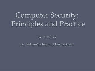 Chapter 12: System Intrusion Detection  and Prevention
