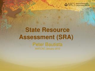 State Resource Assessment (SRA)