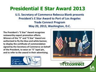 Presidential E Star Award 2013