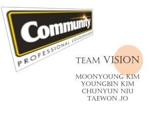 Team  VISION Moonyoung  Kim Youngbin  Kim Chunyun Niu Taewon  Jo