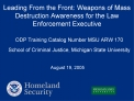 Leading From the Front: Weapons of Mass Destruction Awareness for the Law Enforcement Executive