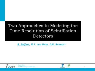 Two Approaches to Modeling  the Time Resolution of  Scintillation Detectors