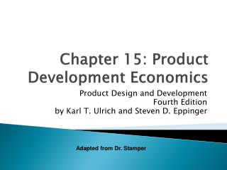 Chapter 15: Product Development Economics