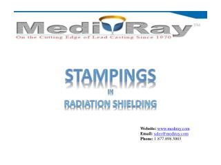 STAMPINGS in Radiation shielding