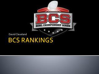 BCS  RANKINGS