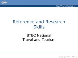 Reference and Research Skills