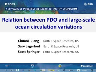Relation between PDO and large-scale ocean circulation variations