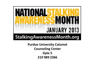 Purdue University Calumet  Counseling Center Gyte  5 219  989 2366