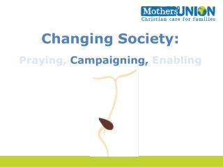 Changing Society: Praying,  Campaigning,  Enabling