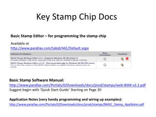Key Stamp Chip Docs
