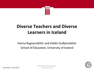 Diverse Teachers and Diverse Learners in Iceland