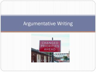 Argumentative Writing