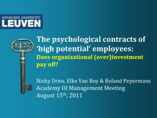 """old""  vs.  ""new""  psychological  contract"