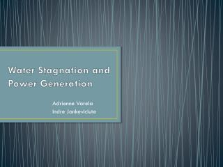 Water Stagnation and Power Generation