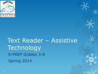 Text Reader – Assistive Technology