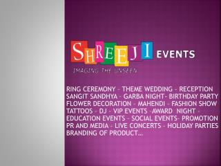 We Provide Services for Corporate Events Management