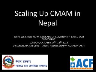 Scaling Up CMAM in Nepal