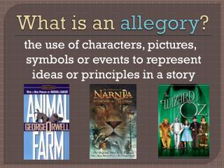 What is an  allegory ?