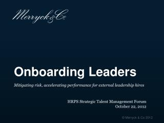 Onboarding Leaders