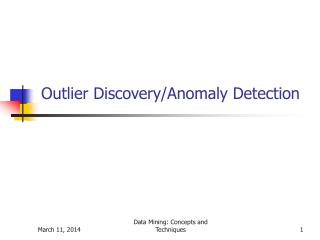 Outlier Discovery