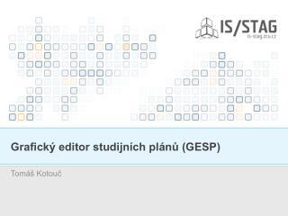 Grafický editor studijních plánů (GESP)