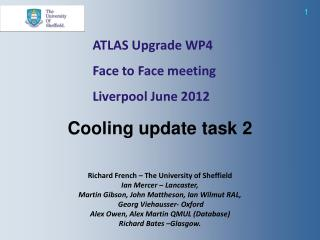 ATLAS Upgrade WP4  Face to Face meeting Liverpool June 2012