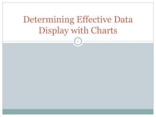 Determining Effective Data Display with Charts