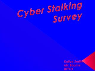 Cyber Stalking Survey