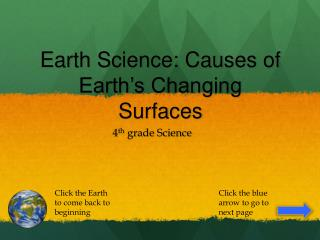 Earth Science: Causes of Earth's Changing Surfaces