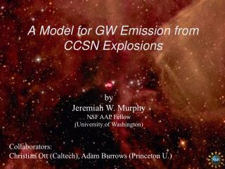 A Model for GW Emission from CCSN Explosions
